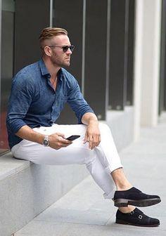 ブルーシャツの着こなし・コーディネート一覧【メンズ】 | Italy Web