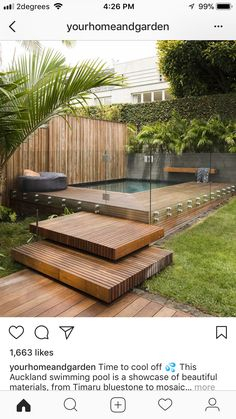 Attractive Backyard Swimming Pool Designs Ideas For Your Small Backyard ~ 42 Attractive Backyard Swimming Pool Designs Ideas For Your Small Backyard ~ awesome small pool design ideas for your backyard 27 Small Swimming Pools, Swimming Pools Backyard, Swimming Pool Designs, Small Pools, Small Backyard Pools, Backyard Patio Designs, Patio Ideas, Landscaping Ideas, Landscaping Small Backyards