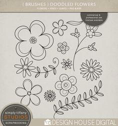 Doodled Flower