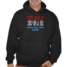 Cool 26.2 marathon hooded sweatshirts