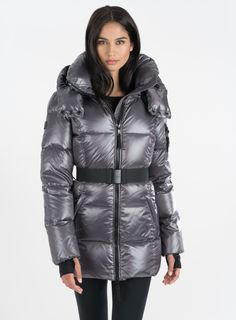 Shell: 60% polyester, 40% nylon Lining: 100% nylon Down fill: 80% pure goose down, 20% down feathers Dry clean only