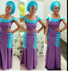 the blue and the purple looks good ~Latest African Fashion, African Prints, African fashion styles, African clothing, Nigerian style, Ghanaian fashion, African women dresses, African Bags, African shoes, Kitenge, Gele, Nigerian fashion, Ankara, Aso okè, Kenté, brocade. ~DK