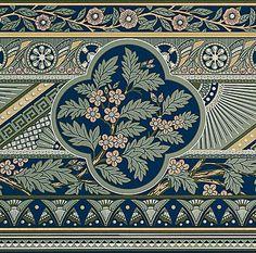 Bradbury Victorian Japanese Home Wallpaper | Emelita's Floral Pattern