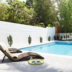 Staying by the pool and swimming is amazing in summer, especially on these hot days. If you are happy to have a pool and wanna create a comfortable and chic Swimming Pool Landscaping, Backyard Landscaping, Landscaping Ideas, Porches, Outdoor Spaces, Outdoor Living, Outdoor Decor, Home Modern, Pool Cabana