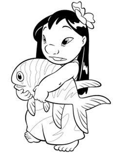 Ausmalbild Lilo und Stitch - Lilo und Stitch