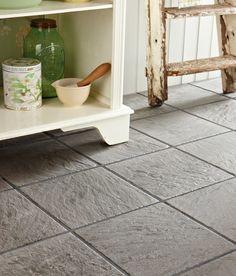 Outdoor Tiles Floor, Tile Floor, Kitchen Tiles, Kitchen Flooring, Tile Care, Topps Tiles, Multi Fuel Stove, Stone Mosaic Tile, Black Tiles