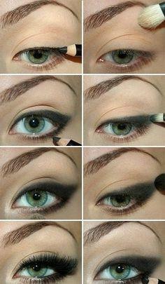 smokey eye for green eyes makeup tutorial