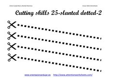 pre-k scissor skills activities   Cutting Skills Printables Worksheets collection   Attention WorkSheets