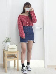 마리쉬♥패션 트렌드북! Korean Summer Outfits, Casual Summer Outfits For Women, Korean Fashion Summer, Casual Outfits, Korea Fashion, Curvy Fashion, Asian Fashion, Girl Fashion, Fashion Design
