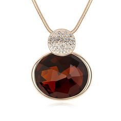 Amber Brown Chunky Necklace