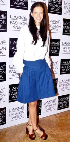 Kalki Koechlin at the 2nd day of the Lakme Fashion Week 2013. #Bollywood #Style #Fashion #LFW