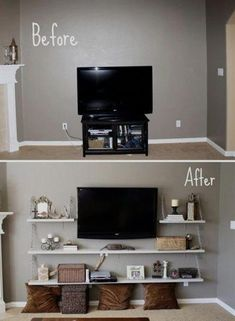 Top Cool Ideas: Living Room Remodel With Fireplace Bookcases living room remodel on a budget life.Living Room Remodel On A Budget Tips living room remodel ideas awesome.Living Room Remodel On A Budget Tips. Sweet Home, My Living Room, Home And Living, Small Living Room Ideas On A Budget, Small Livingroom Ideas, House Ideas On A Budget, Bedroom Decor Diy On A Budget, Living Area, Tv Stand Ideas For Living Room