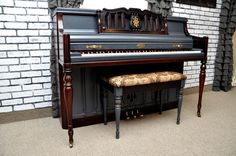 """""""Regal"""" The crown of our collection. #upcycle #refinish #DIY #piano #blue"""