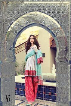 Maria B Lawn collection 2017 Pakistan model Maya Ali
