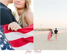 Fourth of July proposal - Jersey Shore engagement photos at Point Pleasant beach NJ. New Jersey weddings. Incorporating props into your engagement shoot!