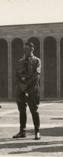 Adolf Hitler Photos and Historical Info — Hitler in 1929 at Nuremberg's Ehrenhalle. The...