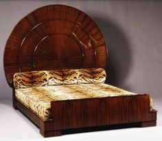 RUHLMANN 'Sun' Bed. The furniture and interior designs of Jacques-Emile Ruhlmann were sleek, sexy and incredibly luxurious, and they define him as the designer most representative of the Art Deco style. (hva)