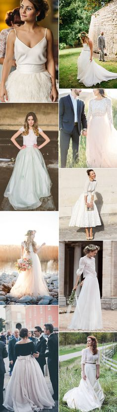 Consider bridal separates for your wedding day. Glitzy Secrets explores some beautiful styles on GS Inspiration