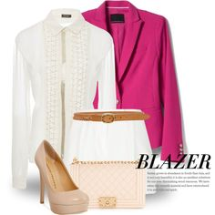 Blazer 3759 by boxthoughts on Polyvore featuring Zac Posen, Banana Republic, Elie Saab, Chinese Laundry, Chanel and rag & bone
