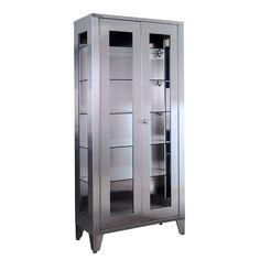 Linen Cabinet With Glass Doors | http://betdaffaires.com | Pinterest