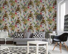 Hip Behang Woonkamer : Beste afbeeldingen van kleurrijk behang wall papers