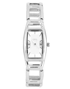 Oasis Silver Interlock Link Braclet Watch