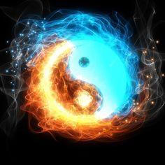 Tatuajes Yin Yang, Yin Yang Tattoos, Ying Yang Wallpaper, Galaxy Wallpaper, Fire And Ice Wallpaper, Jing Y Jang, Yen Yang, Crystal Room Decor, Yin Yang Art