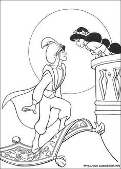 Aladdin malvorlagen