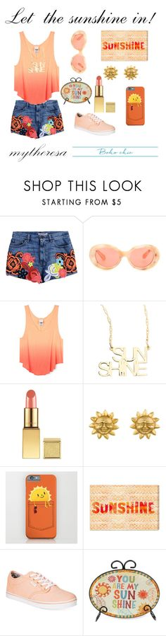"""Let The Sunshine In With mytheresa.com: Contest Entry"" by couldbecassie ❤ liked on Polyvore featuring Christopher Kane, Acne Studios, Jennifer Zeuner, Aerin Rose, Oliver Gal Artist Co. and Vans"