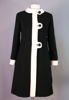 A lovely black and white mod dress from the 60s | Lovely