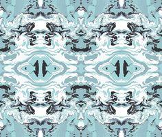 FAUX TOILE Washed Aqua Wallpaper