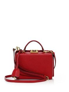 MARK CROSS Grace Small Leather Box Crossbody Bag. #markcross #bags #shoulder bags #hand bags #leather #crossbody #lining #