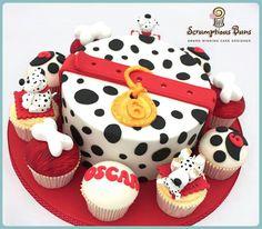 Dalmatians cake and cupcakes