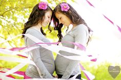 Maternity photo shoot I did with my sisters !