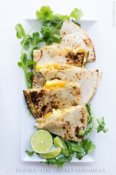 Tequila Lime Chicken Quesadilla via Real Food by Dad - WOWEE!  I'll make mine with gluten free tortillas.  Can't wait!!!