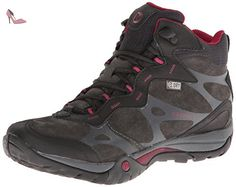 merrell azura carex mid waterproof chaussures de randonnee tige basse femme noir black