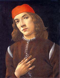 Sandro Botticelli (Alessandro di Mariano di Vanni Filipepi) (1445 – 1510)  Portrait of a Young Man  Tempera on panel, about 1480-1485  41.7 x 30.9 cm  National Gallery of Art, Washington, USA