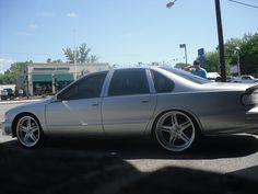 22 inch custom asanti wheels on chevy caprice af162 silver brushed split 5 star impala ss 96