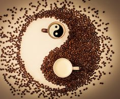 Yin Yang by DreamInfinit Photography by Jai on - Milch Coffee Barista, Coffee Humor, Coffee Drinks, Coffee Shop, Coffee Cups, Coffee Bean Art, Coffee Beans, I Love Coffee, Best Coffee