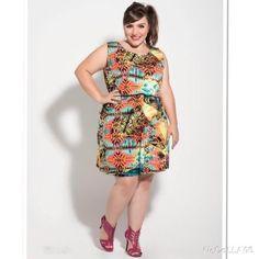 Vestido Estampado Verão - Achados Plus Size
