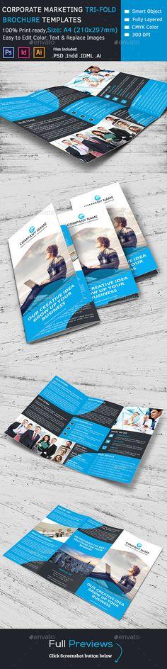 Corporate Marketing Tri-Fold Brochure Template #design Download: http://graphicriver.net/item/corporate-marketing-trifold-brochure/10050940?ref=ksioks