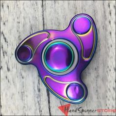 Rainbow Anodized Boomerang Tri-Spinner Fidget Hand Spinner Toy Torqbar EDC Sensory for Autism and ADHD Kids/Adult Funny Anti Stress Toy