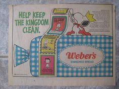 Weber's Snoopy / Peanuts Bread Ad