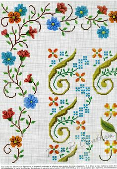 ru / Фото - 1 - Auroraten so many designs for borders and others: Mini Cross Stitch, Beaded Cross Stitch, Cross Stitch Borders, Cross Stitch Rose, Cross Stitch Flowers, Cross Stitch Designs, Cross Stitching, Cross Stitch Embroidery, Hand Embroidery