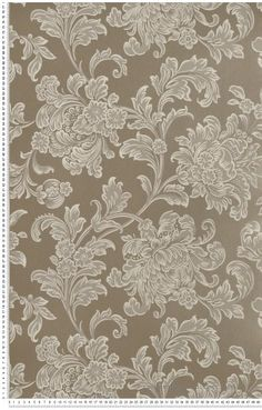 North End Road Warm Silver - papier peint The Little Greene