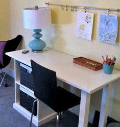 desks diy desk and diy and crafts on pinterest ana white completed eco office desk