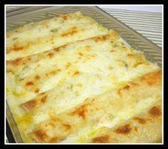 Gluten-free chicken enchiladas with sour cream sauce