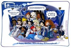 Pocket Princesses Disneyland Diamond Celebration (Guest cameo by Silvani Art) <3