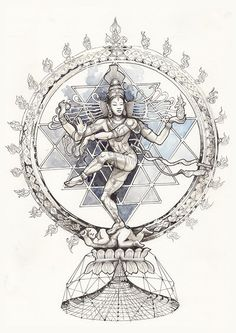 Image of Nataraja Shiva Art, Ganesha Art, Krishna Art, Hindu Art, Kali Tattoo, Shiva Tattoo Design, Nataraja, Kali Goddess, Goddess Art