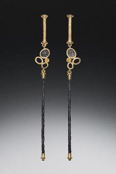 Robin Cust | Yellow Diamond Dangle Earrings